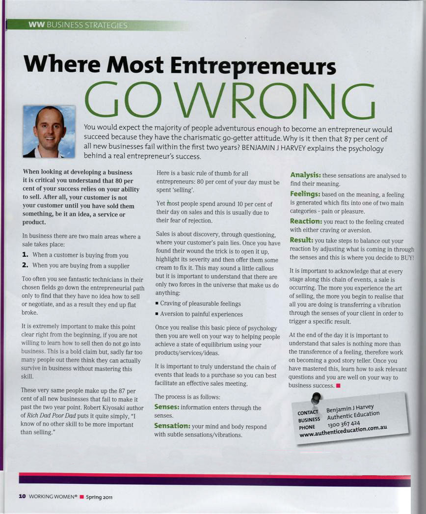 Where Most Entrepreneurs Go Wrong