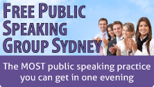 Free public speaking group Sydney