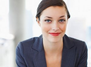 lady smiling confidently