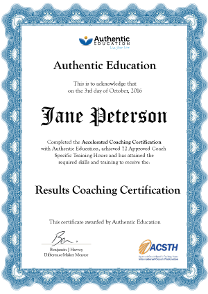 Authentic Education's life coaching courses certification