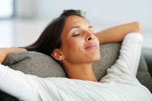stress -relaxed-woman