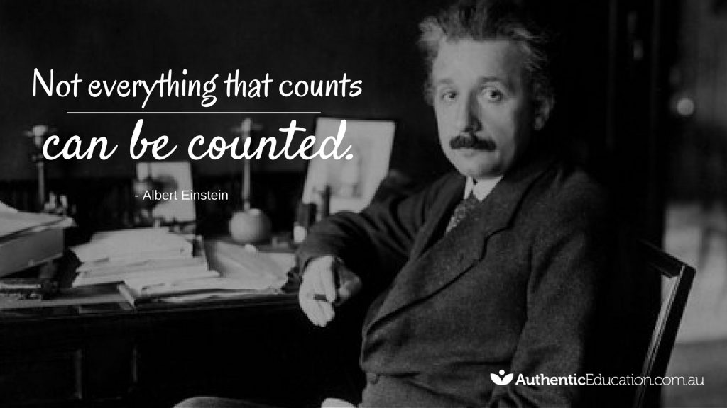 Not everything that counts can be counted by Albert Einstein image