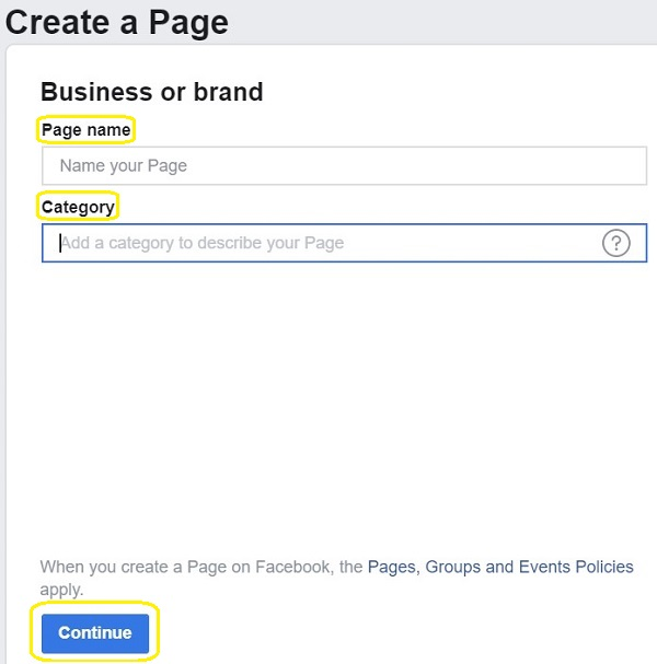 Create a page image