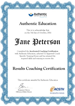 Accelerated Coaching Certification certificate image