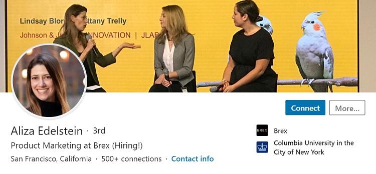 Great Linkedin profile image