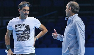Roger Federer and Paul Annacone image