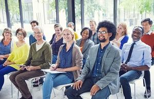 Happy audience image