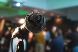 Microphone for public speaking image