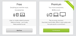Spotify freemium marketing image