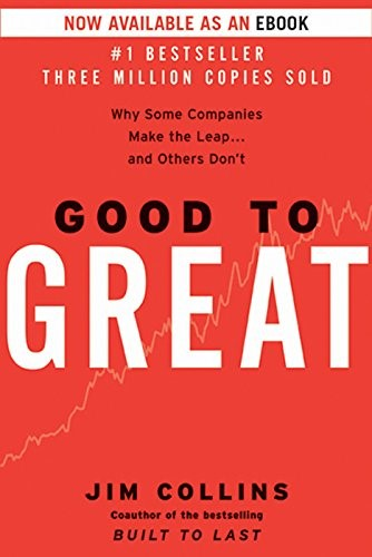 Good to Great book by Jim Collins front cover image