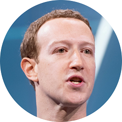Mark Zuckerberg circle crop image