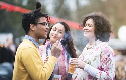 Group of people smoking image