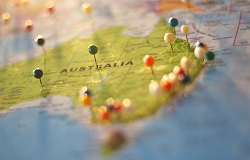 Map of Australia with pins image