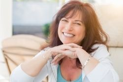 Attractive middle aged woman portrait image