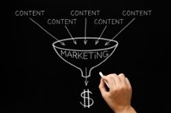 Content marketing funnel concept image
