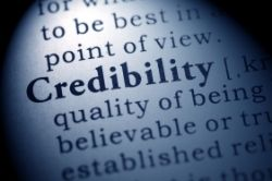 Credibility text image