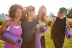 Group of middle aged woman on a retreat image