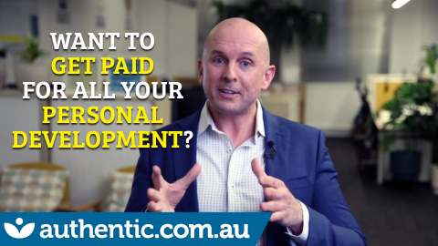 How To Get Paid For All Your Personal Development blog image